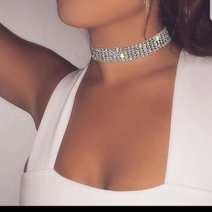 New Crystal rhinestone choker necklace
